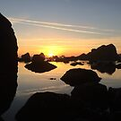 Left coast sunset by Clancey Meyer-Gilbride