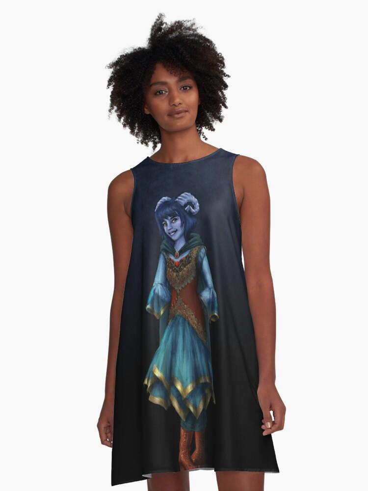 Jester A Line Dress By Bluelinnet Redbubble