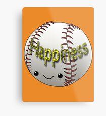 Happiness - Baseball Metal Print