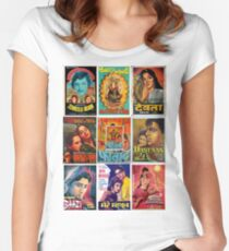 Vintage Bollywood Pattern Women's Fitted Scoop T-Shirt