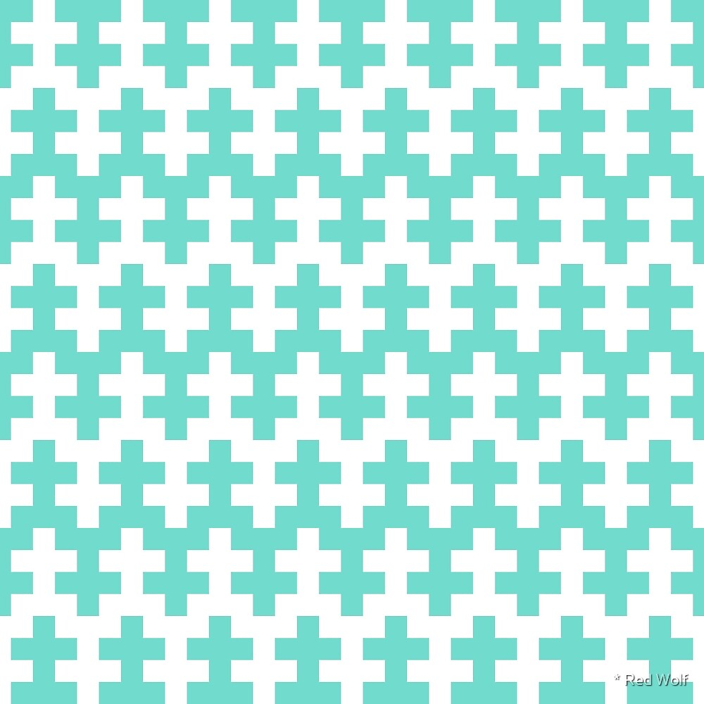 Geometric Pattern: Cross: Blue by * Red Wolf