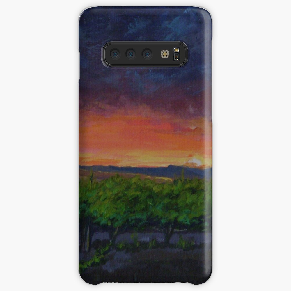 Vineyards at Sunset Case & Skin for Samsung Galaxy