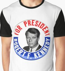 Robert F Kennedy for President - 1968 Campaign Button Design Graphic T-Shirt