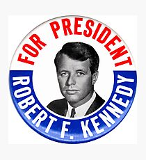 Robert F Kennedy for President - 1968 Campaign Button Design Photographic Print