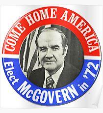 George McGovern für den Präsidenten - 1972 Kampagne Button Design Poster
