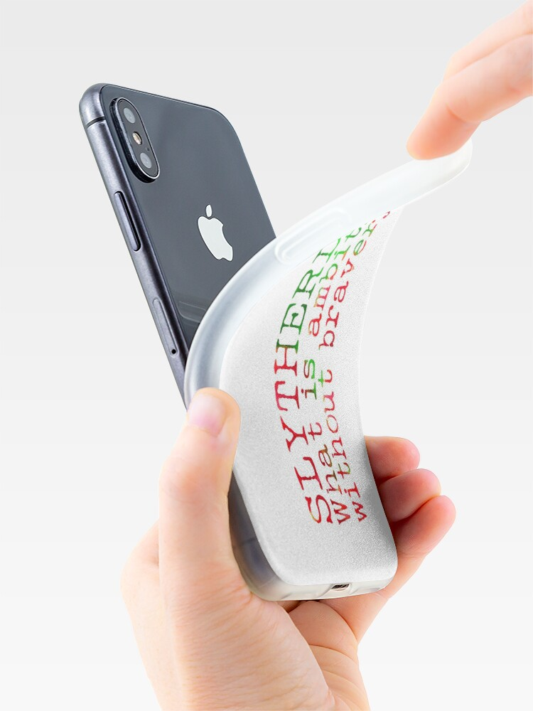 Alternate view of Slytherdor Quote iPhone Case & Cover