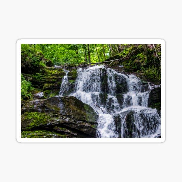 Great waterfall Shypit in Carpathian mountains Sticker