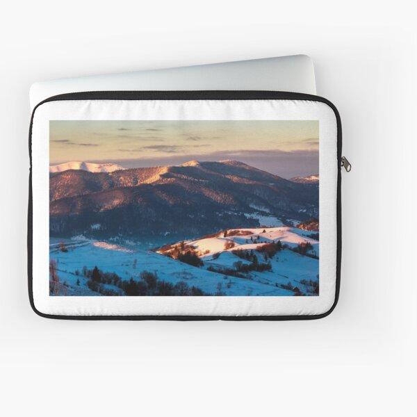 sunrise in snowy Carpathian mountains Laptop Sleeve