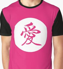 Love Chinese - Japanese Calligraphy Characters Graphic T-Shirt