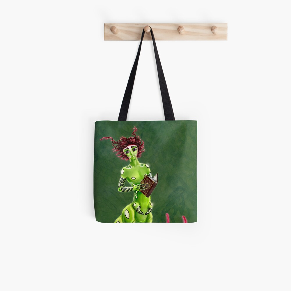 the Caterpillar Boy of Book-loving Tote Bag