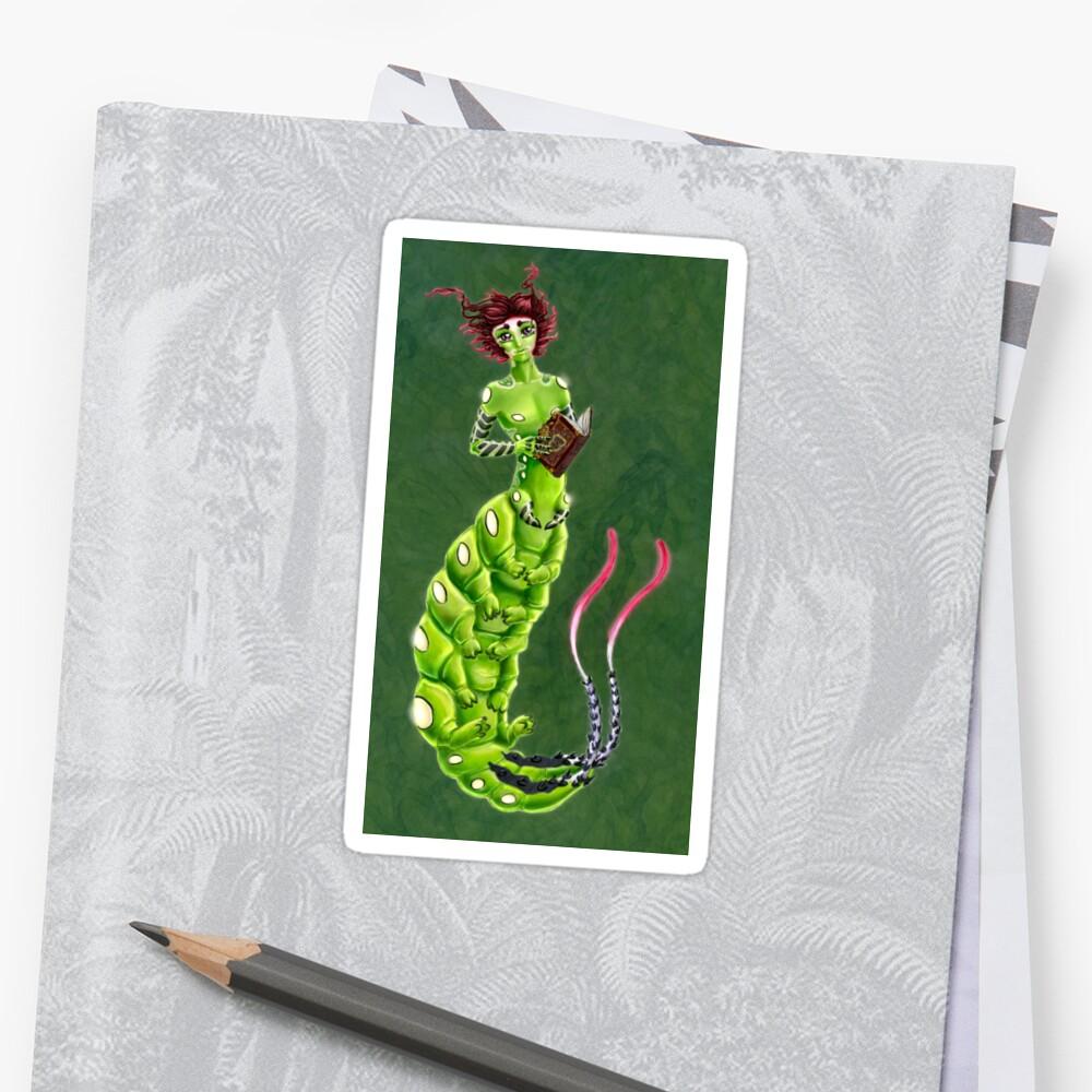 the Caterpillar Boy of Book-loving Sticker