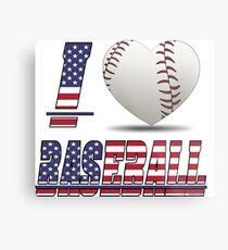 I love baseball Metal Print