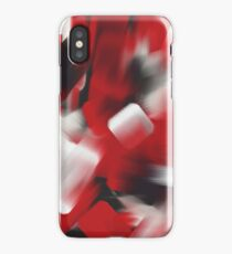 Red Brush Strokes iPhone Case