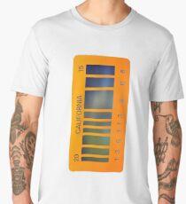 2015 California Barcode Plate Men's Premium T-Shirt
