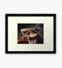 Out of My Face Framed Print