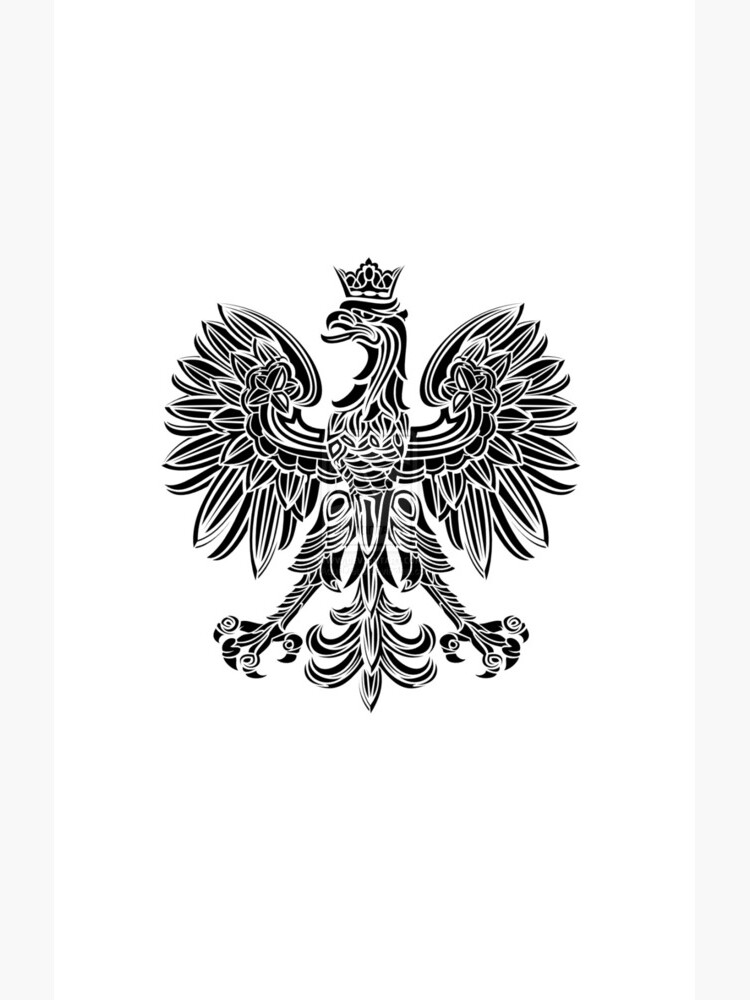 Polish eagle black Poland cote of arms by estudio3e