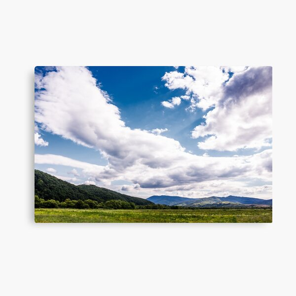 agricultural fields in mountainous countryside Canvas Print