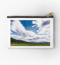 agricultural fields in mountainous countryside Studio Pouch