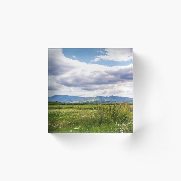 agricultural fields in mountainous countryside Acrylic Block