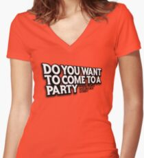 Party Women's Fitted V-Neck T-Shirt