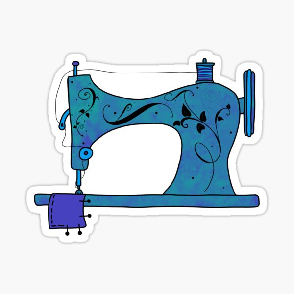 and sew it goes... Sticker