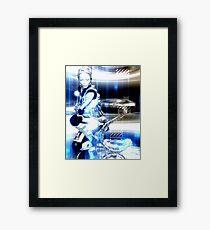 Sci Fi Robot Girl, Futuristic Beauty! Framed Print