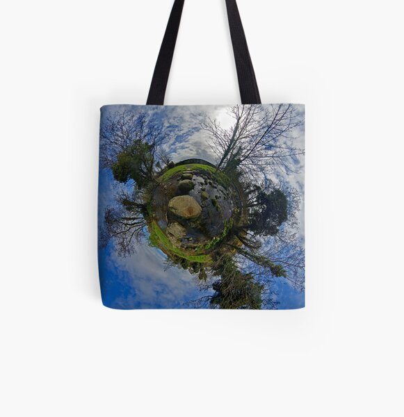Stepping Stones Across Kilkeel River, Mountains of Mourne All Over Print Tote Bag