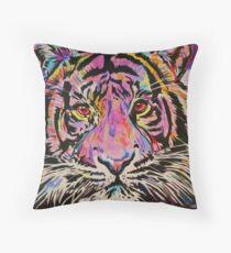 Pop Art Tiger Eyes Throw Pillow
