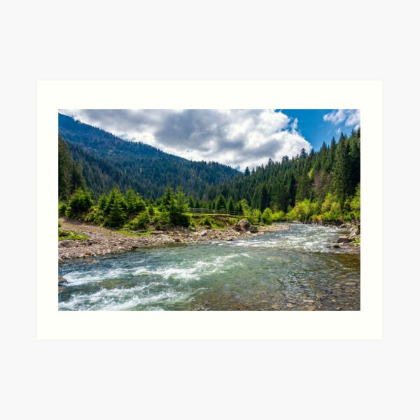 Tereblya river of Carpathan mountains Art Print