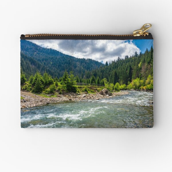 Tereblya river of Carpathan mountains Zipper Pouch