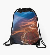 slow motion abstraction on the road Drawstring Bag
