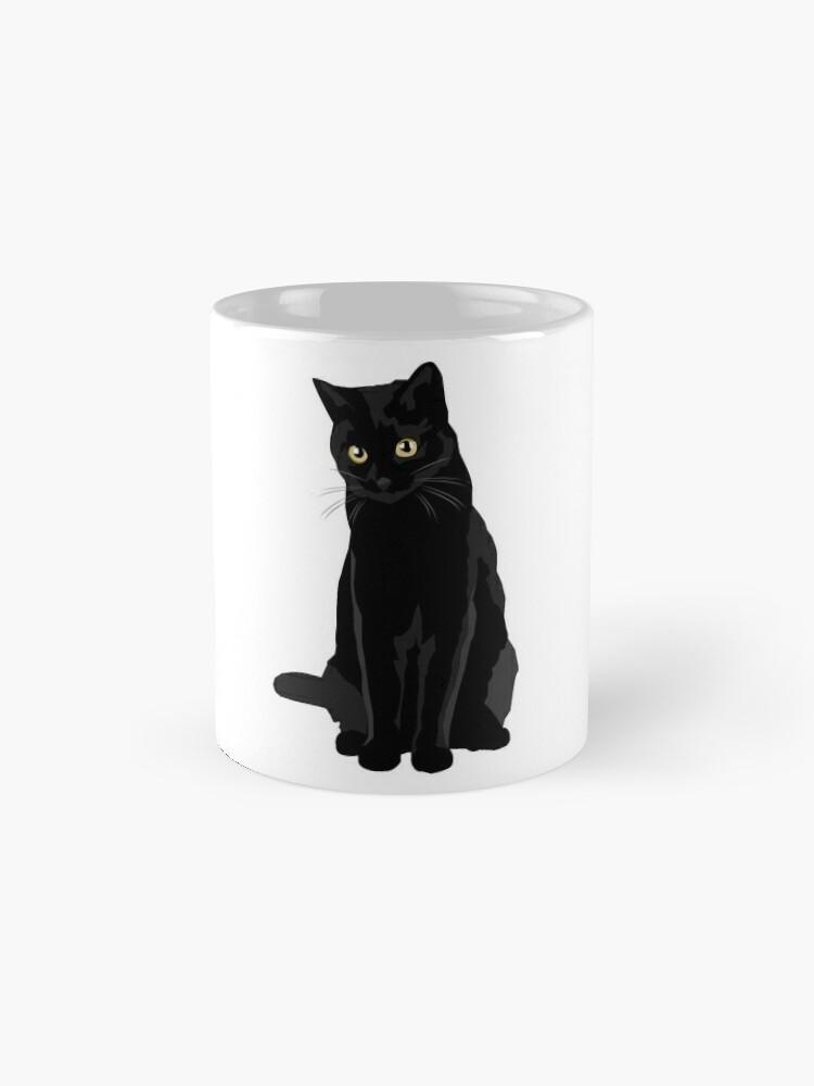 Vista alternativa de Taza estándar Gato negro