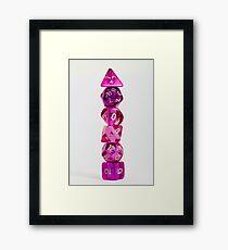 Dice tower Framed Print