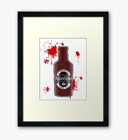 B Negative Framed Print
