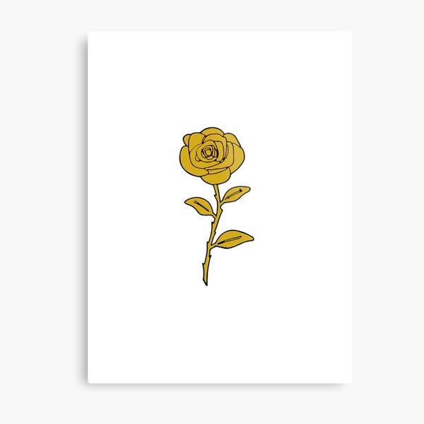 Rose - Gold Metal Print
