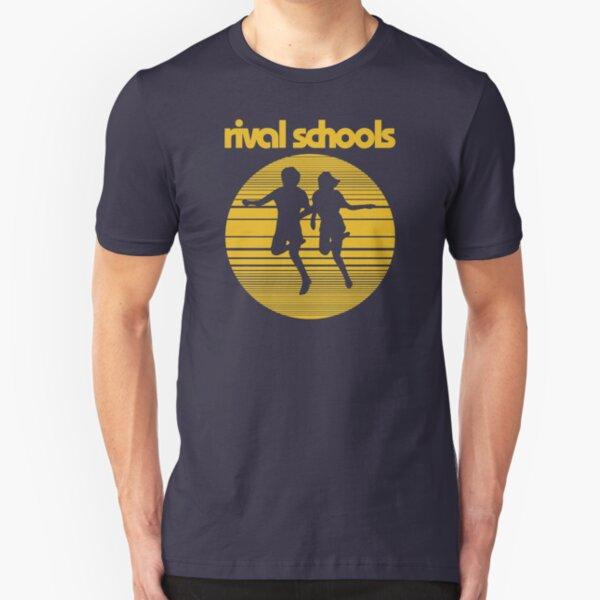 Rival Schools Logo Yellow Slim Fit T-Shirt