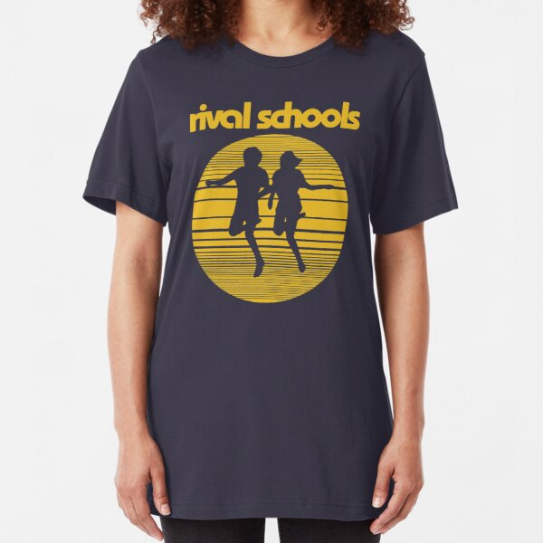 Rival Schools Logo Yellow Slim Fit T-Shirt