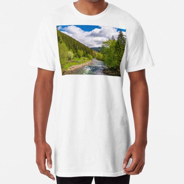 Tereblya river of Carpathian mountains Long T-Shirt