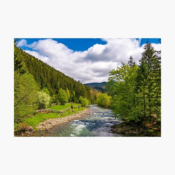 Tereblya river of Carpathian mountains Photographic Print