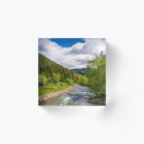 Tereblya river of Carpathian mountains Acrylic Block