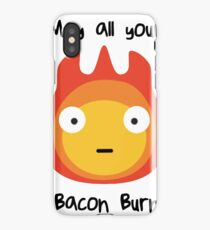 Howls moving castle - Calcifer - May all your bacon burn. iPhone Case