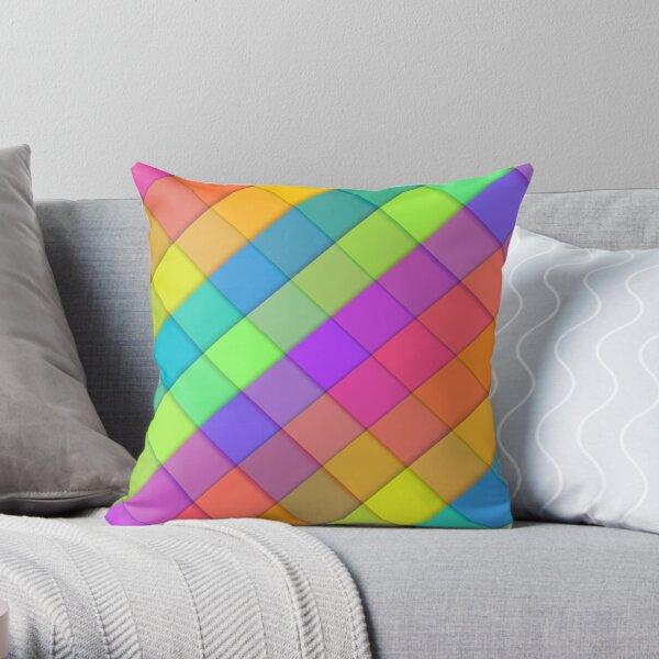 Abstract colourful block design Throw Pillow