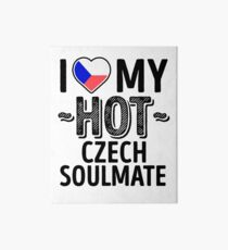 I Love My HOT Czech Soulmate - Cute Czech Republic Couples Romantic Love T-Shirts & Stickers Art Board