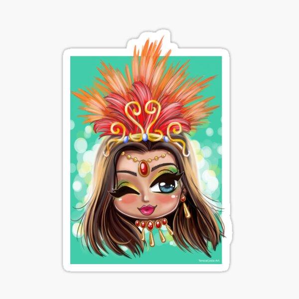Carnival Shine - Brunette Sticker