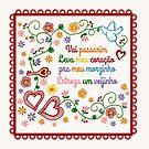 Valentines Gift or Lenço dos Namorados by caligrafica