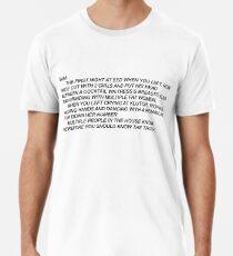 Anonymous Letter to Sammi Men's Premium T-Shirt