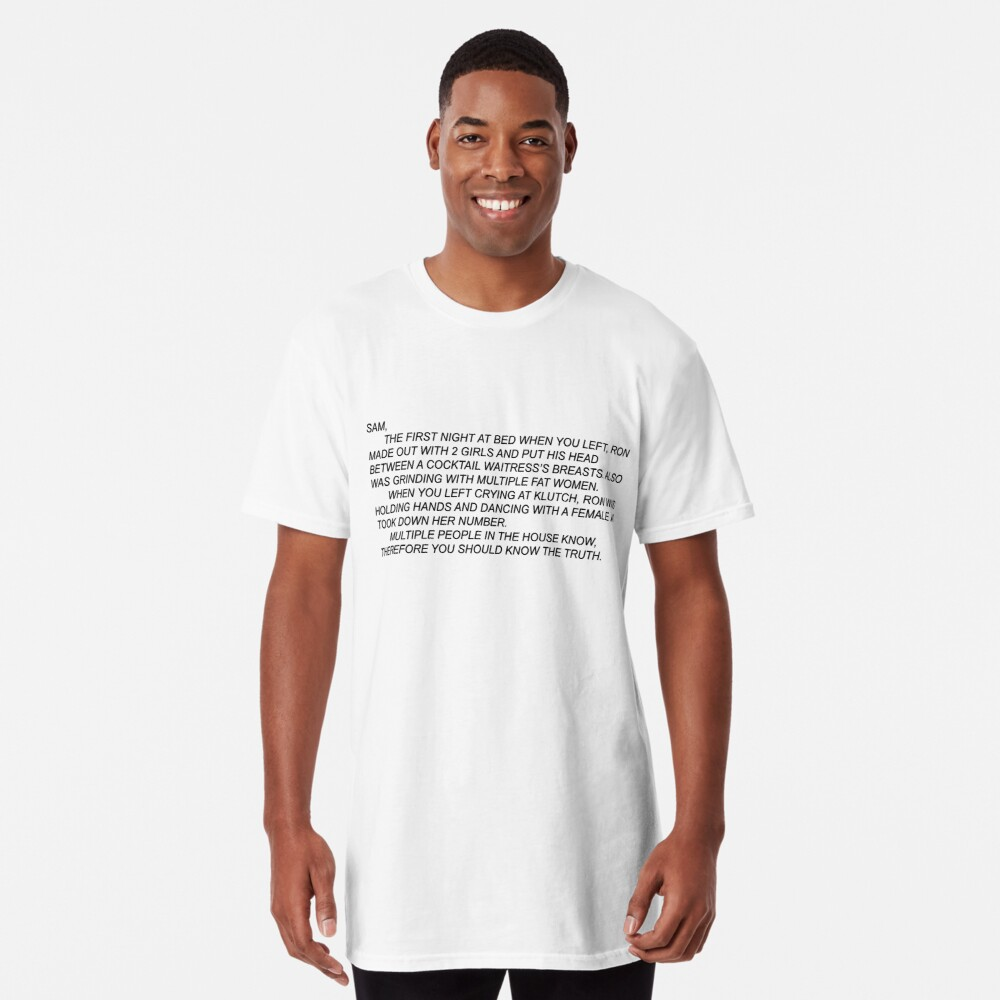 Anonymous Letter to Sammi Long T-Shirt Front