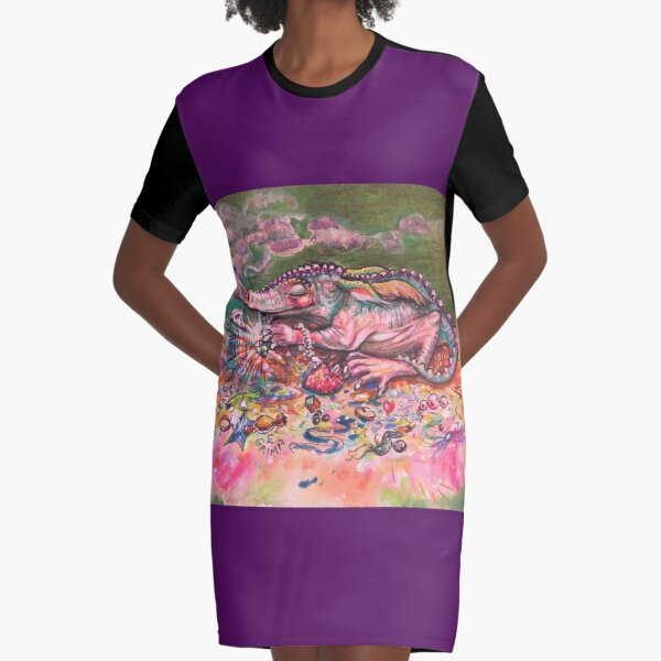 Baby Dragon Graphic T-Shirt Dress