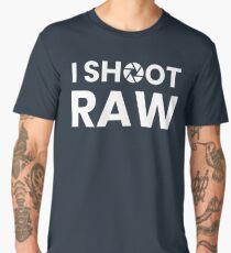 I SHOOT RAW - WHITE Men's Premium T-Shirt
