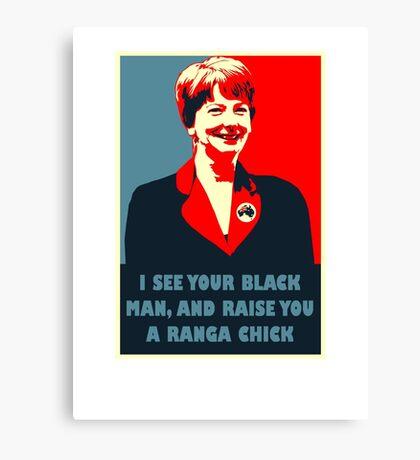 Prime Ministerial Propaganda Canvas Print